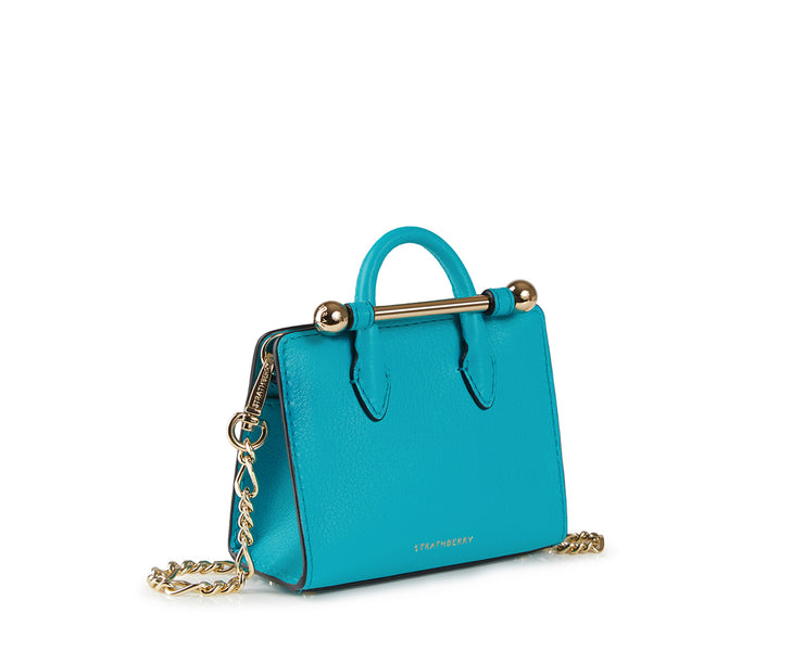 The Strathberry Miniature Tote - Turquoise