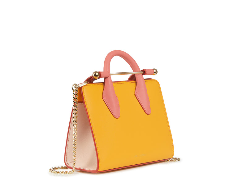 The Strathberry Nano Tote - Blossom Yellow/Soft Pink/Salmon