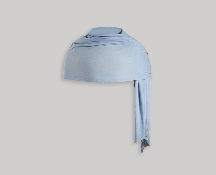 Cashmere Travel Wrap - Sky Blue
