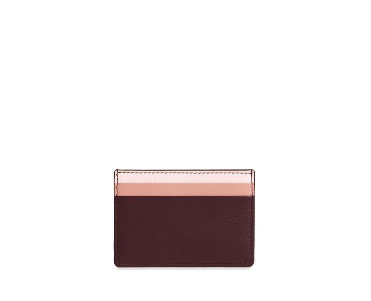 Cardholder - Burgundy/Rose/Soft Pink