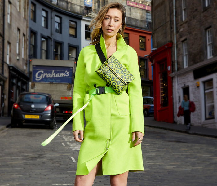 Strathberry X Alana Hadid East/West Stylist - Lime Leopard