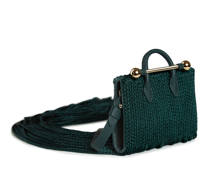 Miniature Fringe Tote - Xu Zhi Bottle Green